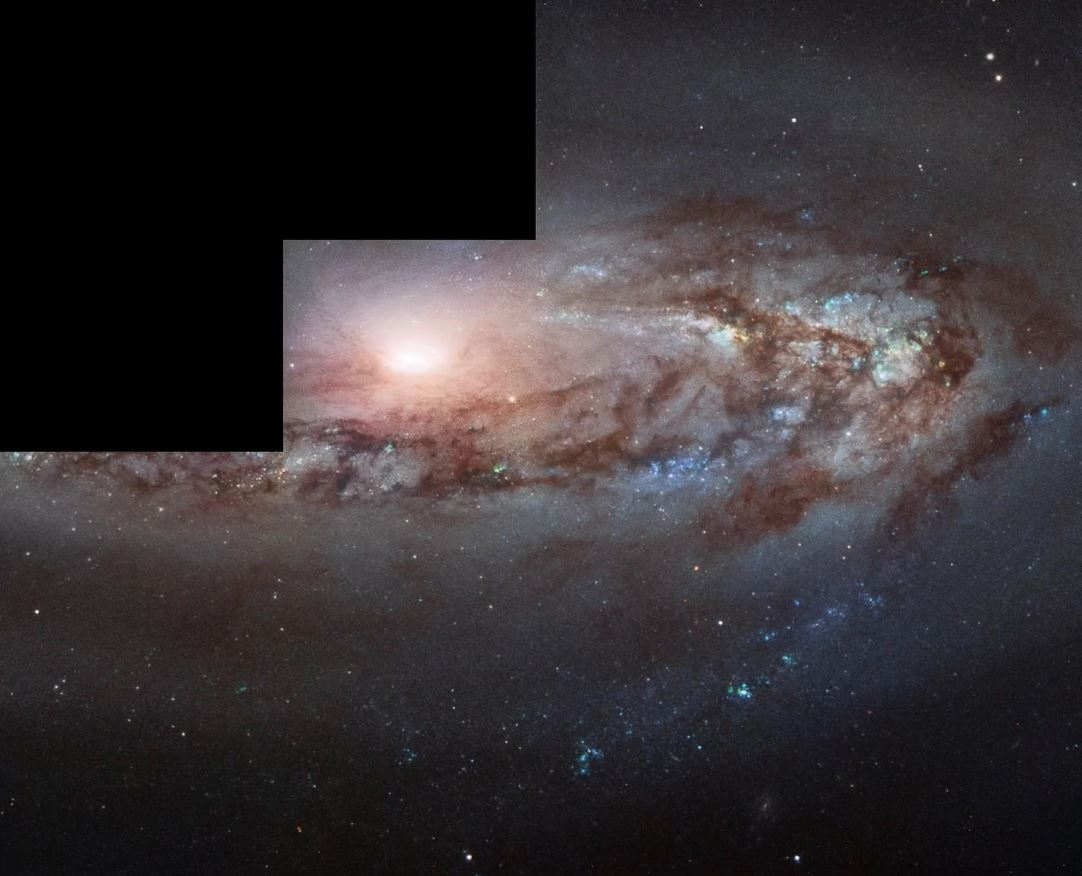 Una vista de la galaxia Messier 90 desde el Telescopio Espacial Hubble. Esta galaxia está a unos 60 millones de años luz de la Vía Láctea, pero se está acercando