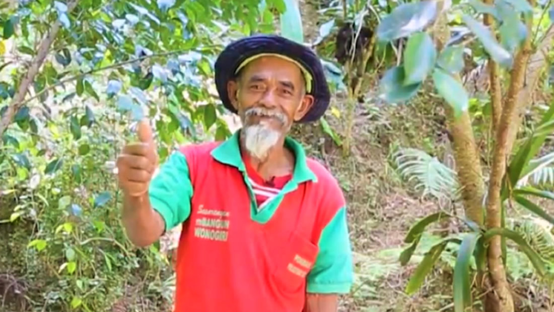 Anciano plantó más de 11.000 árboles para devolver el agua a un bosque en Indonesia