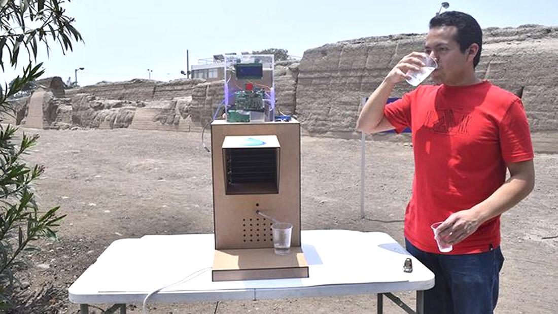 Diseñan dispositivo para generar agua de la humedad en Perú
