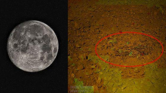 Revelan nuevas imágenes de extraña sustancia «similar a gel» hallada en la Luna
