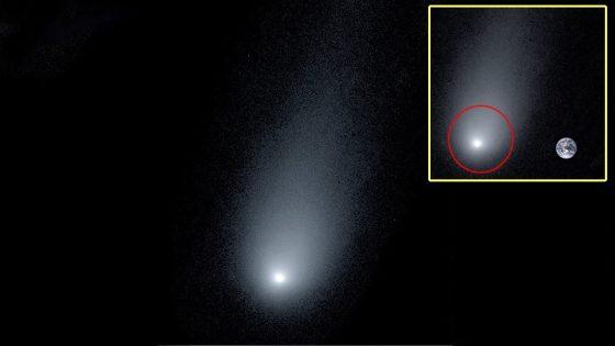 Un cometa fantasmal tan grande como la Luna se dirige hacia nosotros