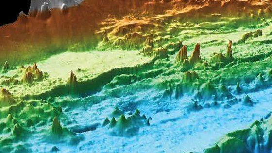 Ciudad submarina de chimeneas geotérmicas descubierta en la costa de EE.UU.