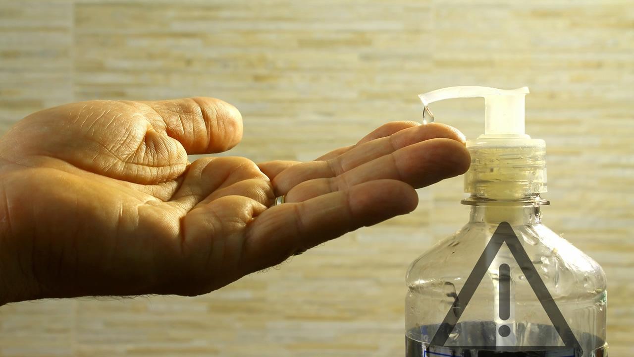 El peligro de los geles antibacteriales con metanol