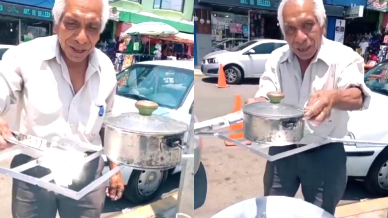 Hombre de 71 años construye una estufa solar para cuidar el medio ambiente